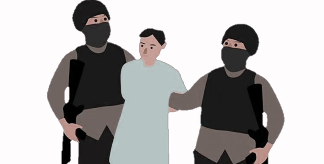 Ilustrasi penangkapan pelaku