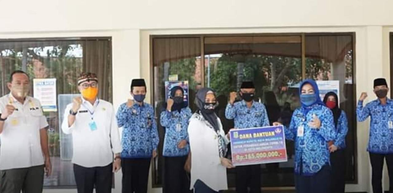 Korpri Serahkan Bantuan Uang ke Pemkot Mojokerto Untuk Tangani Corona