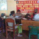 Bansos COVID-19 Tahap I di Desa Karamian Masalembu Disalurkan ke 92 KK