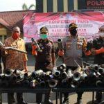 Polresta Mojokerto Musnahkan Ratusan Knalpot Brong Pelanggar Lalin