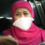 Khofifah Pastikan Pesan Berantai Denda Tilang Masker Hoaks