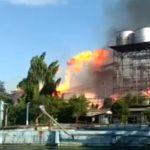 Pabrik Bioetanol di Gedeg Mojokerto Meledak Dan Terbakar