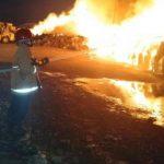 Penyimpanan Bahan Baku Milik Pabrik PT Tjiwi Kimia Terbakar