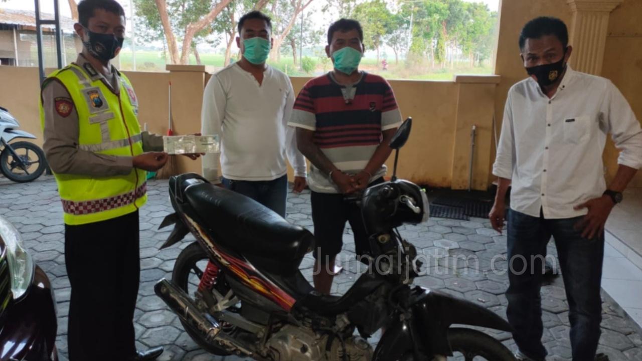 Duh, Pria Asal Megaluh Jombang Tega Curi Motor Tetangga Sendiri