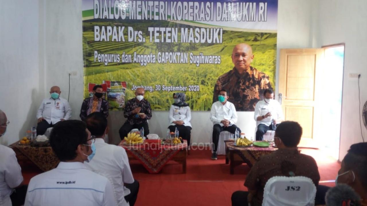 Di Jombang, Menteri Teten Masduki Siap Berikan Pembiayaan Likuiditas Koperasi