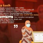 LPPD Tahun 2018, Pemkot Mojokerto Status Kinerja Sangat Tinggi
