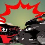 Salip Kendaraan di Jalan Menikung, Grandmax Tabrak Rush di Jombang