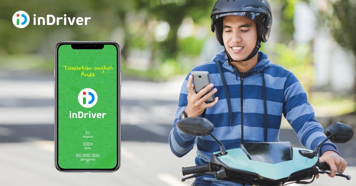 inDriver Tawarkan layanan ojek di Kota Kediri, Malang dan Surabaya.