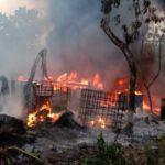 Pompa Air Korslet, Rumah Penimbun Solar di Tuban Hangus Terbakar