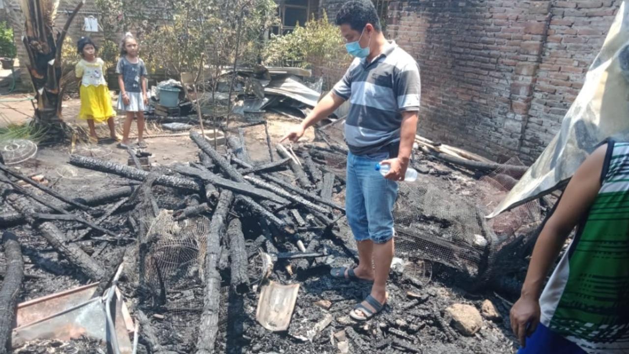 Api Pembakaran Sampah Picu Kebakaran Rumah di Peterongan Jombang
