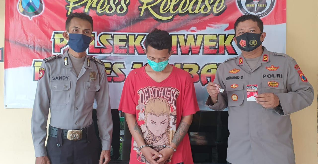 Jual Pil Dobel L 10 Butir, Pria Ini Ditangkap di Rumah Mertua di Jombang