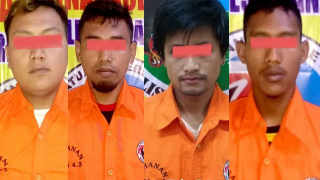 Polisi Ringkus Empat Pengedar Sabu di Tempat Berbeda di Nganjuk