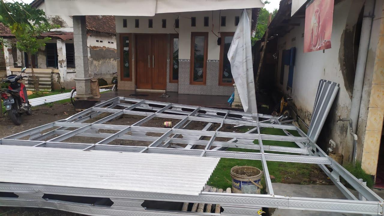Puluhan Rumah di Sumobito Jombang Rusak Dihajar Angin Kencang