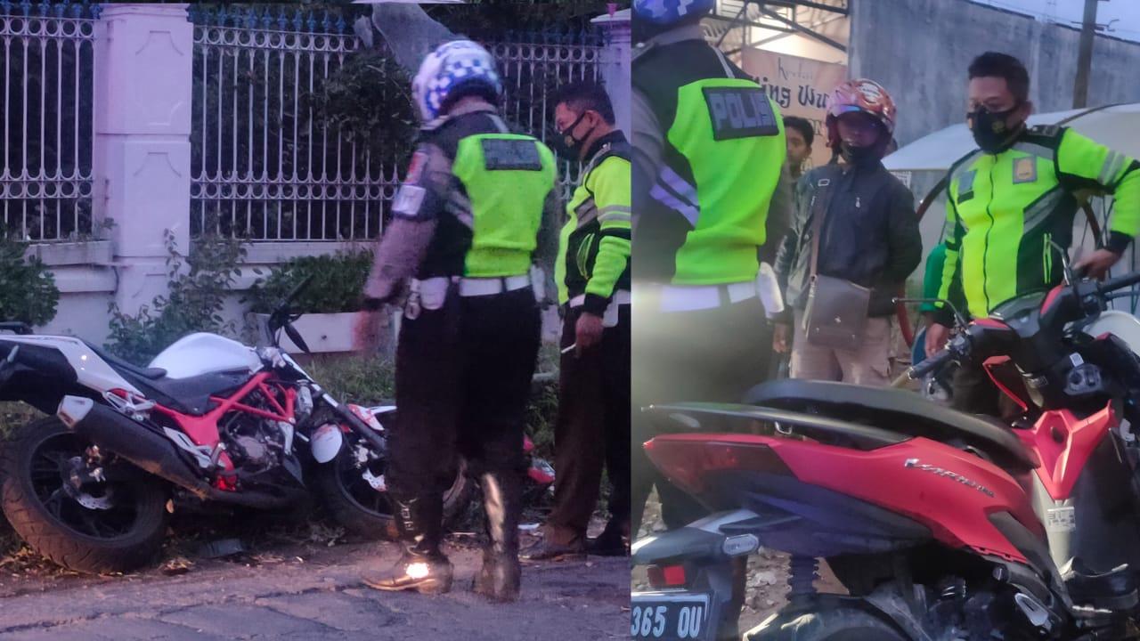 Naik Motor Kencang, Vario Tabrak CBR 150 di Jalan Menikung Jombang