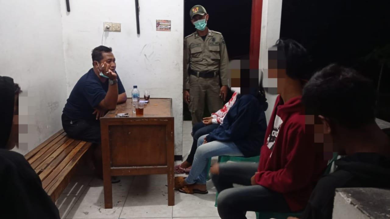 Satpol PP Amankan 5 Remaja Bermain di Area Gor Jayabaya Kota Kediri