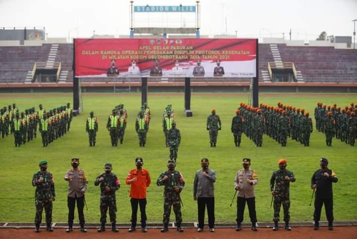 Pemkot Madiun dan TNI Polri Gelar Apel Pasukan Perangi COVID-19