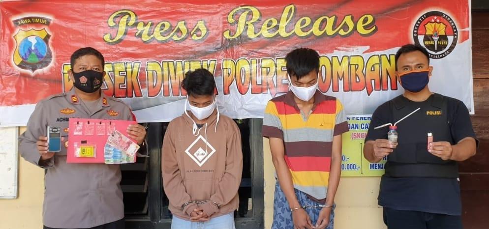 Polisi Amankan 4 Plastik Klip Sabu dari Dua Pemuda Jombang