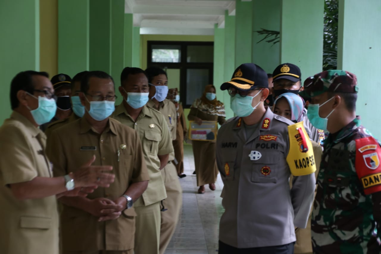 Kapolres Nganjuk Cek Lokasi Karantina Pasien COVID-19 di eks Balai Diklat