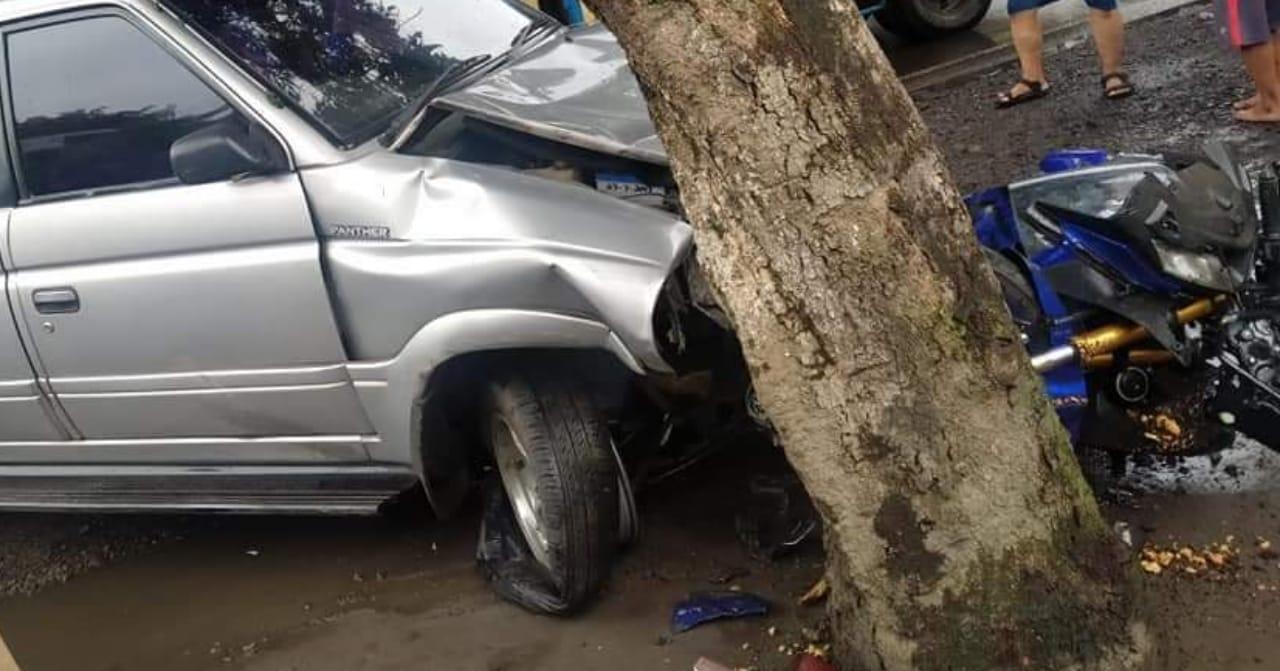 Diduga Mengantuk, Dua Mobil Dan 4 Motor Terlibat Laka Beruntun di Kediri