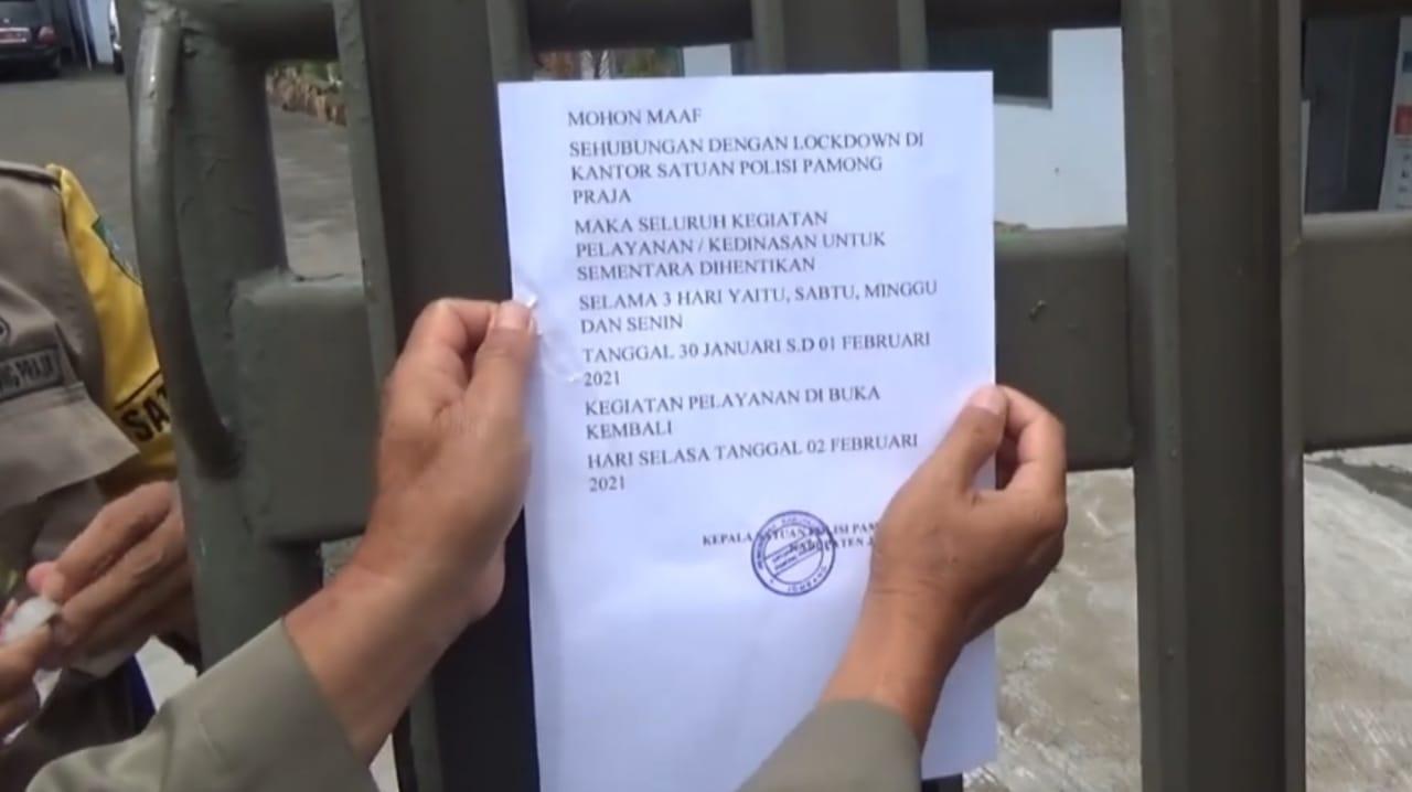 Dua Pegawai Meninggal Karena COVID-19, Satpol PP Jombang Lockdown