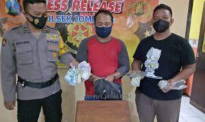Nyaris Dimassa, Pria Ini Tepergok Kuras Isi Kotak Amal Musala di Jombang