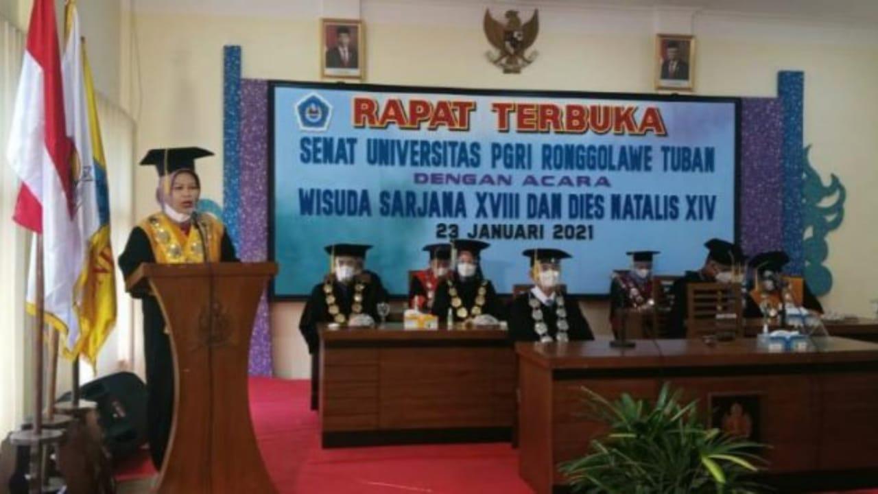 Gelar Wisuda Daring, Unirow Tuban Luluskan 603 Mahasiswa