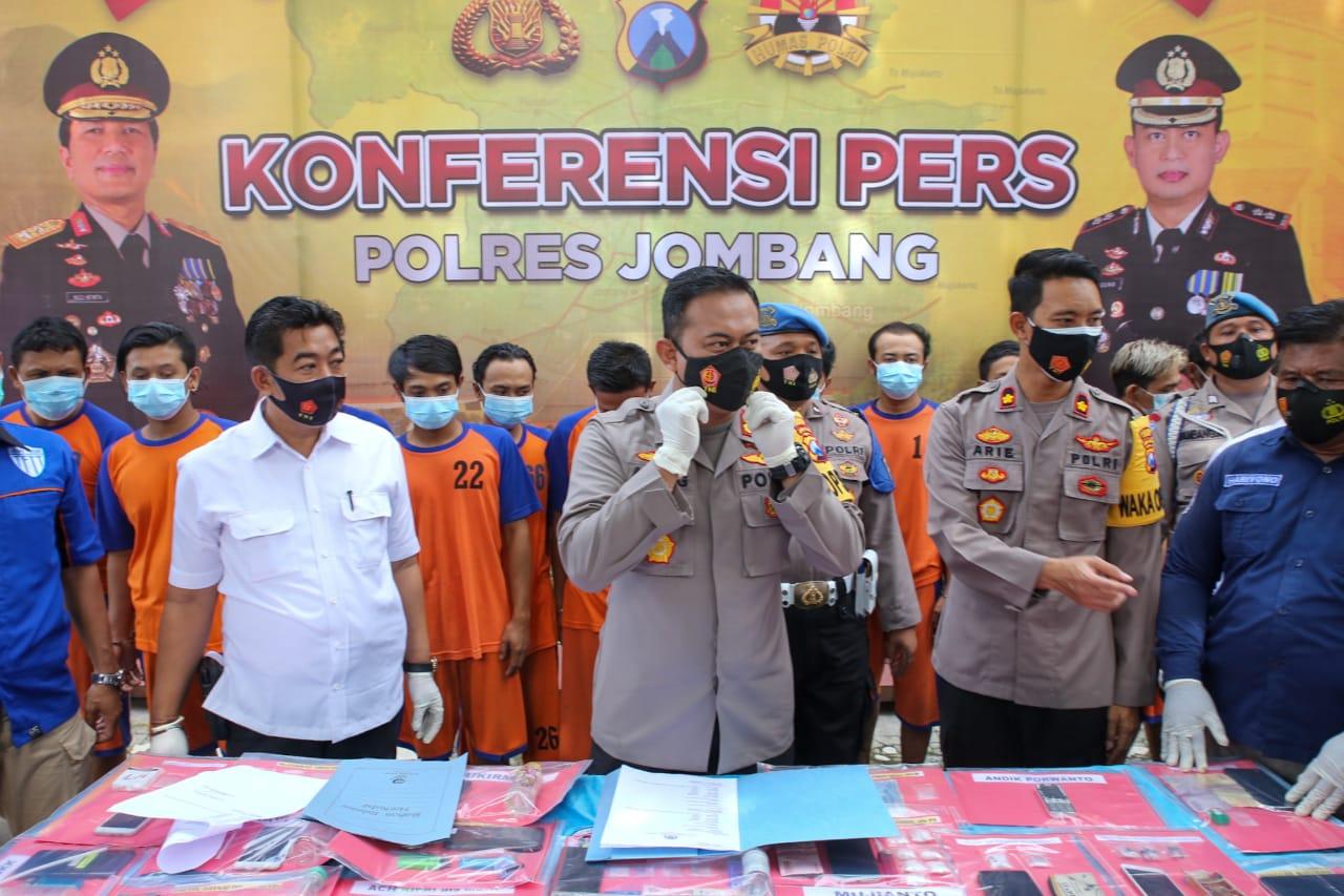 Polres Jombang Bekuk 41 Tersangka Narkoba Sepanjang Januari 2021
