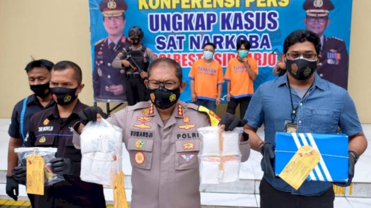 Polresta Sidoarjo tembak pengedar narkoba asal Jombang dan Lamongan