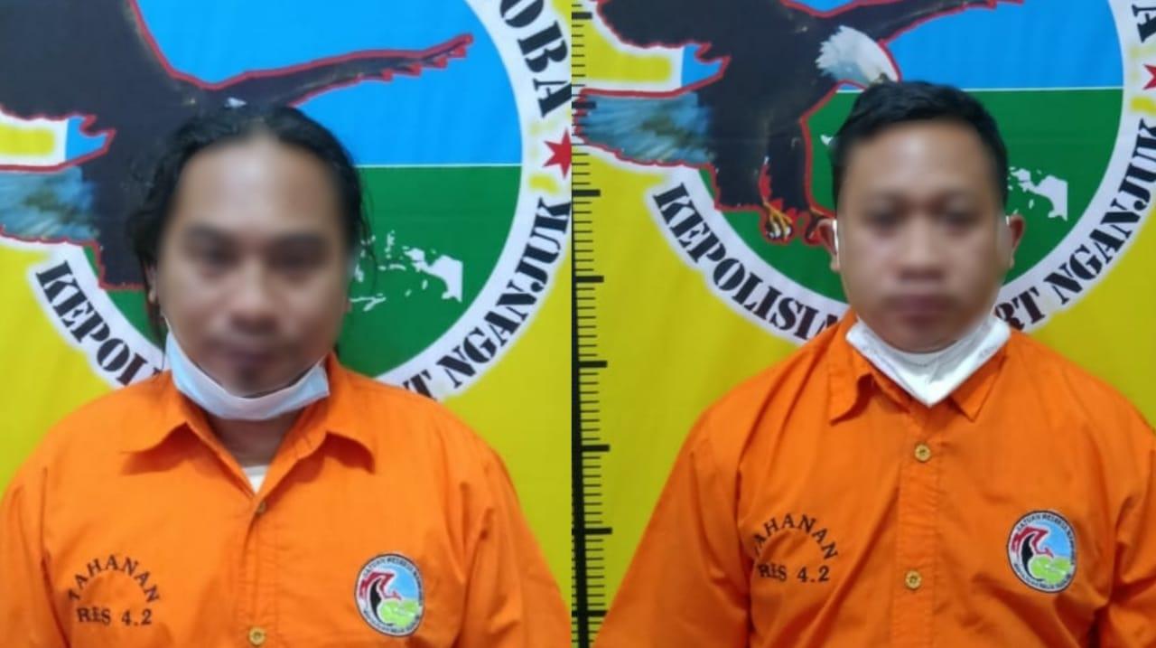 Mencurigakan, 2 Sopir Pengedar Sabu Dibekuk di Depan Terminal Nganjuk