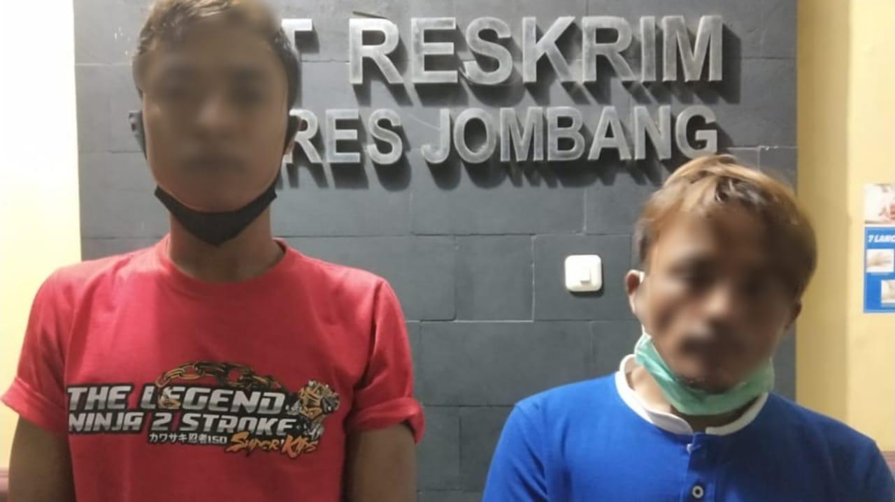 Dua Sekawan Ditangkap Polisi Karena Mencuri Kompresor di Jombang