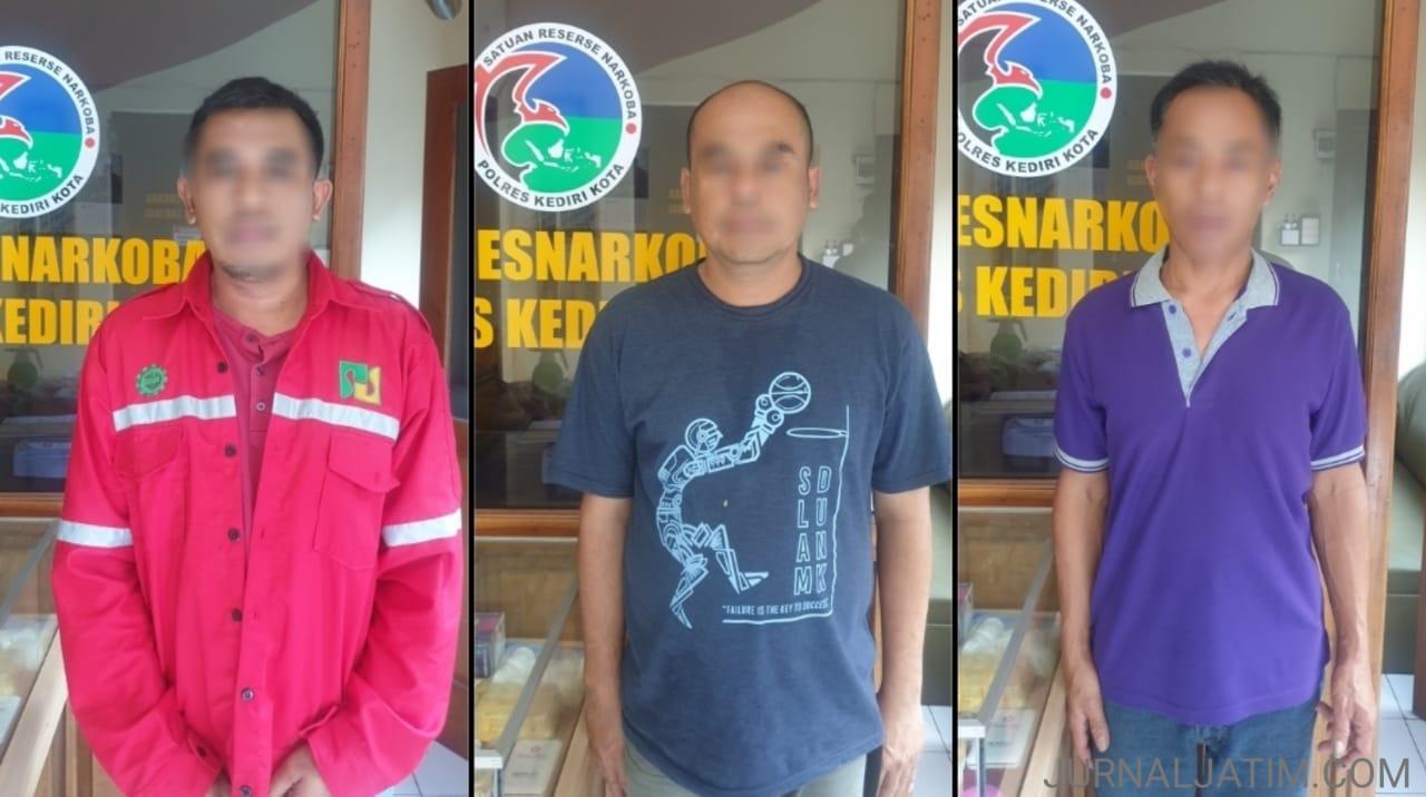 Pesta Sabu di Mojoroto Kota Kediri Digerebek Polisi, Tiga Orang Ditangkap