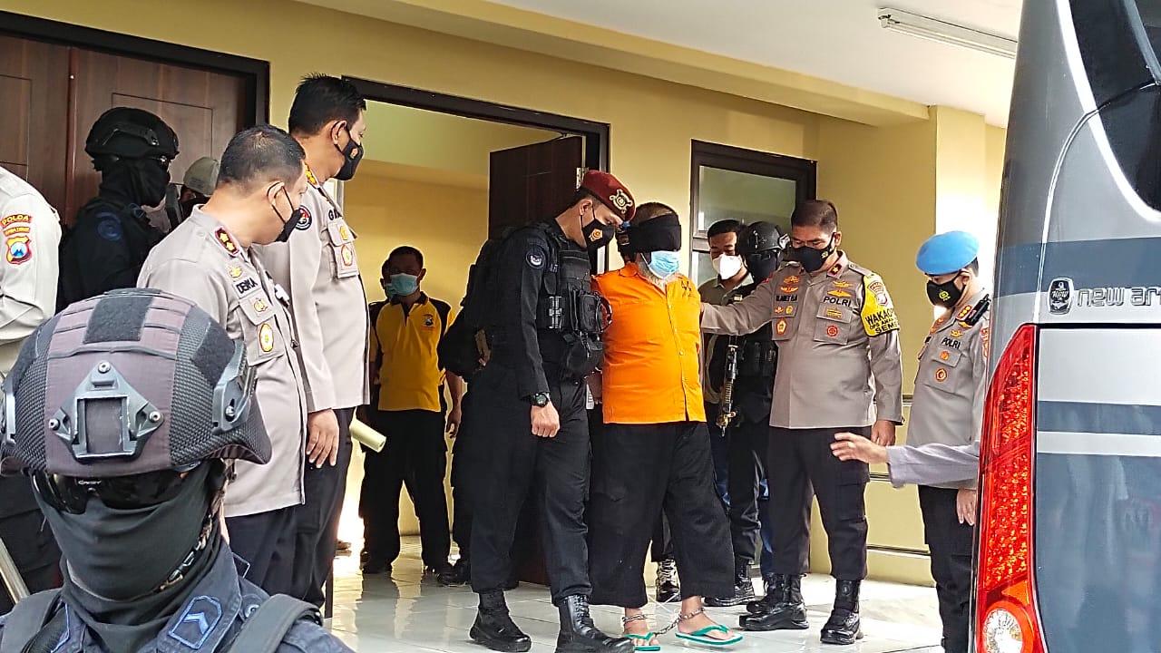 22 orang terduga Teroris tangkapan Densus 88 di Jatim dikirim ke Jakarta