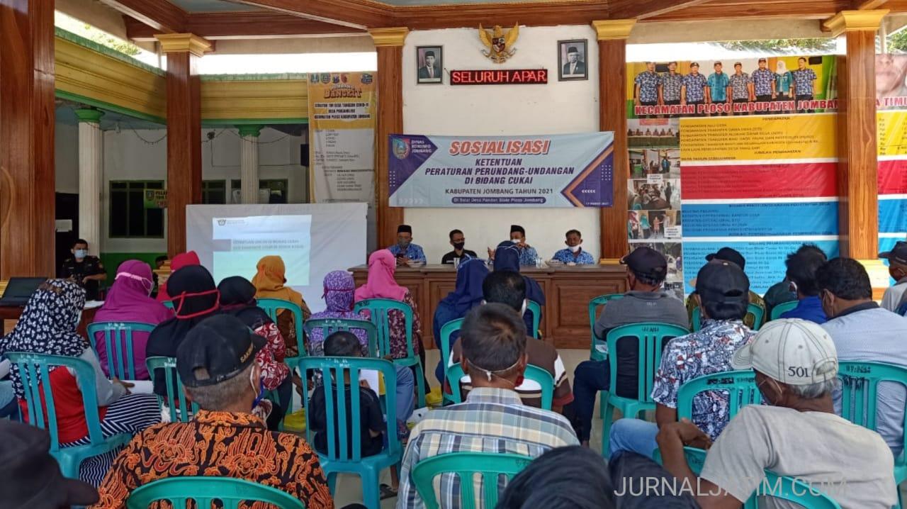 Kominfo Jombang Gencarkan Sosialisasi Undang-Undang Cukai ke Desa