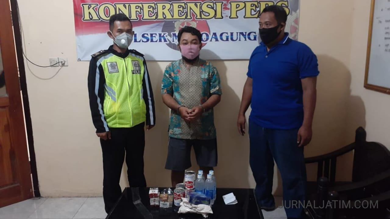 Pencuri Barang Belanjaan di Pasar Mojoagung Jombang Nyaris Dimassa