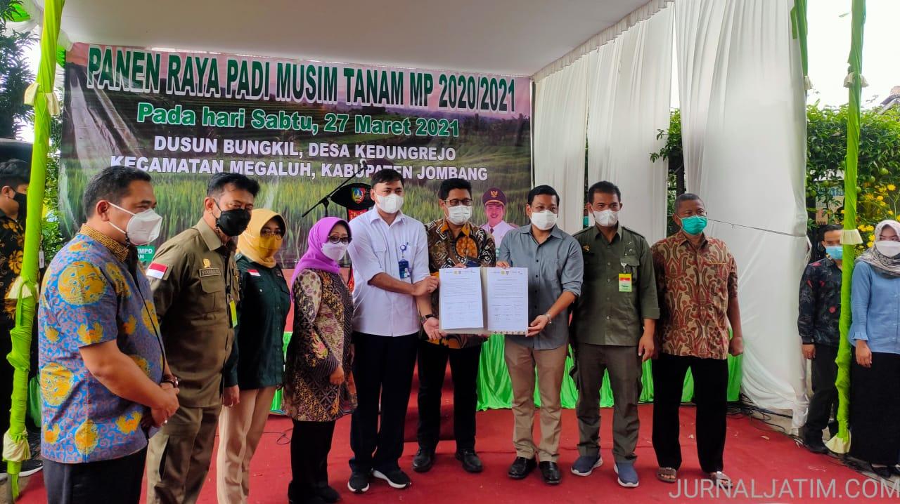 Panen Raya di Jombang, Mentan Tandatangani MoU Serapan Gabah Petani