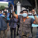 PWI Jombang Aksi Solidaritas Kecam Kekerasan Jurnalis Tempo Nurhadi