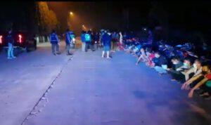 Ratusan Pemuda Terjaring Razia Balap Motor Liar di Mojokerto