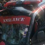 Mobil Ambulans Ringsek Tertimpa Truk Muatan Kacang Tanah di Ngawi