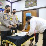 Cegah Penyalahgunaan Narkoba, Polisi di Jombang Teken Pakta Integritas