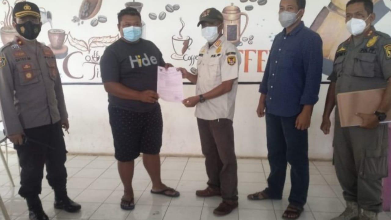 Kafe di Kota Kediri Disanksi Denda Administratif Karena Langgar Prokes