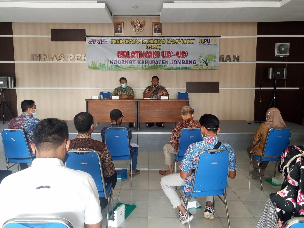 Dinas Perkim Jombang Laksanakan PKM Penerima Program Kotaku 2021