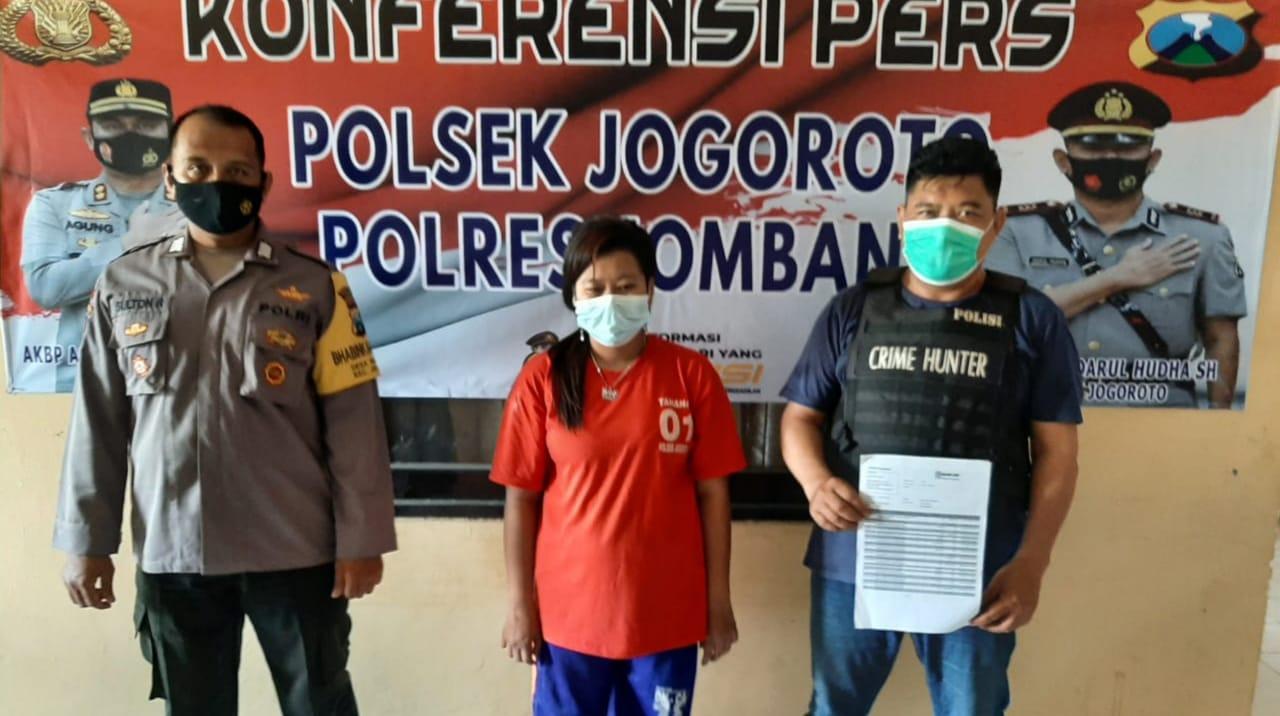 Tipu Tetangga di Jombang, Mama Muda Ini Ditangkap Polisi, Kapok!
