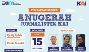 Apresiasi Bagi Insan Pers Nasional, KAI Gelar Anugerah Jurnalistik
