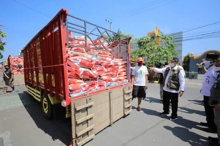 139 Ton Beras Bantuan PPKM Darurat Didistribusikan di Kota Madiun