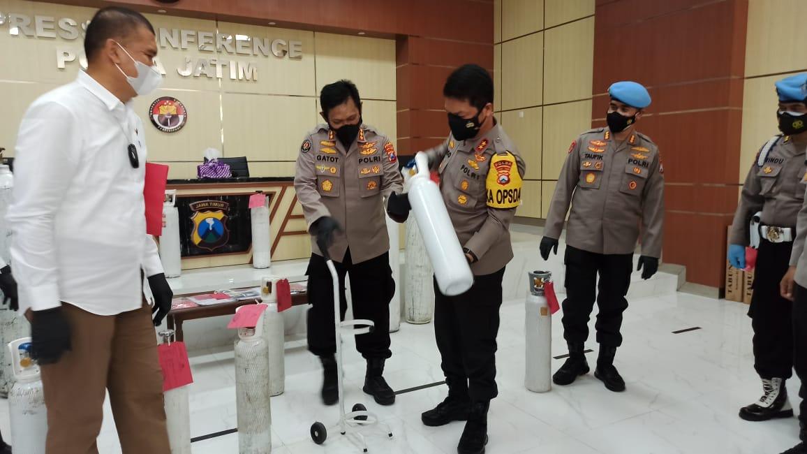 Jual Tabung Oksigen Tak Sesuai HET, Kakak-Adik Asal Sidoarjo Ditangkap