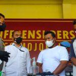 Viral Maki-maki Polisi, Sopir dan Kernet Truk di Mojokerto Diamankan