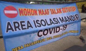 Jalan Desa di Jombang Ditutup Setelah Delapan Orang Positif COVID-19