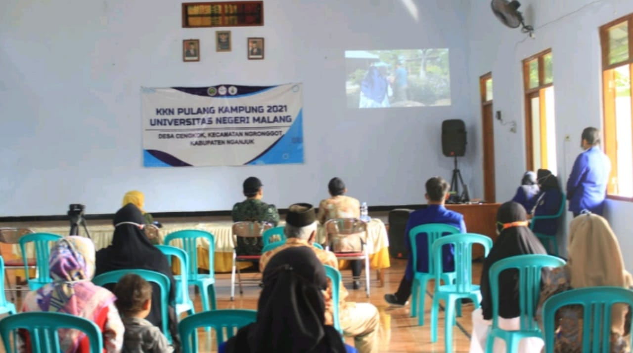 Mahasiswa kenalkan potensi wisata taman cengkok Nganjuk lewat video