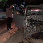 Mobil Pikap Oleng Hantam Kios di Plosoklaten Kediri, Penumpang Tewas