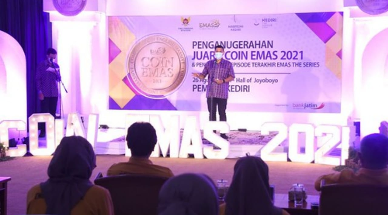 Wali Kota Kediri Apresiasi dan Motivasi Pemenang Coin Emas 2021